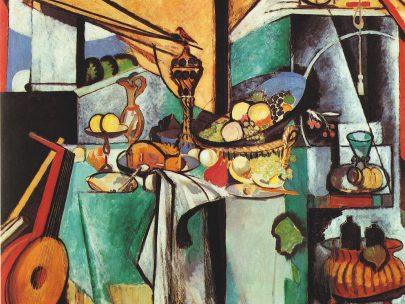 Zátiší s dezerty (podle obrazu Jana Davidsz. de Heem), 1915, olej na plátně, 180 × 220 cm, Museum of Modern Art, New York. (obr. 14)