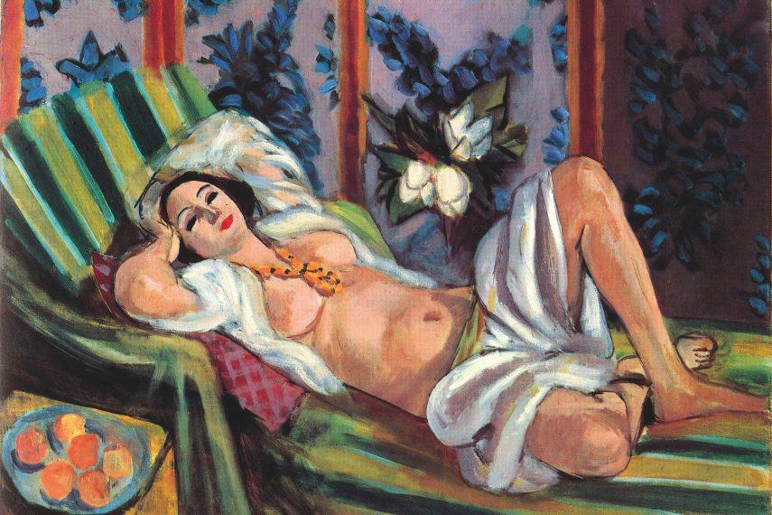 Odaliska s magnolií, 1923/4, olej na plátně, 65 × 81 cm, soukromá sbírka. (obr. 20)