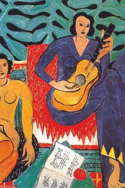Hudba, 1939, olej na plátně, 115 × 115 cm, Albright- -Knox Art Gallery, Buffalo. (obr. 23)