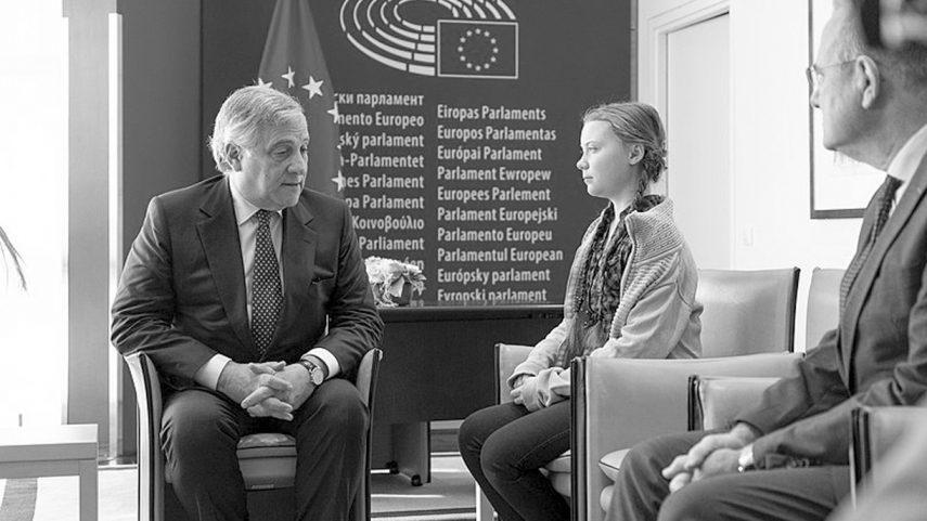 Ilustrační foto: Greta Thunberg v Evropském parlamentu, zdroj: Wikimedia Commons.