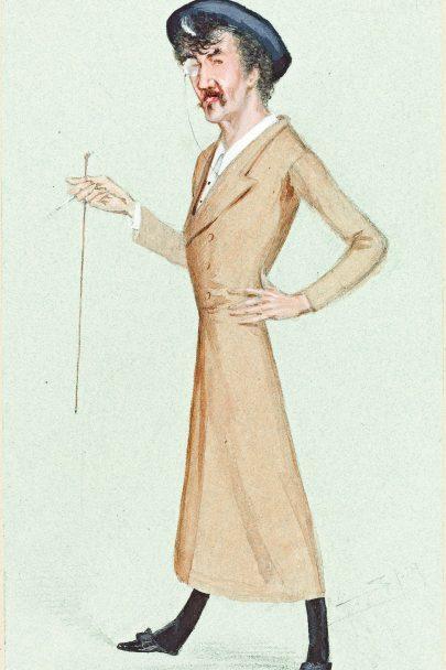 Karikatura Whistlera publikovaná ve Vanity Fair, 1878, autor Leslie Matthew Ward. (obr. 13)