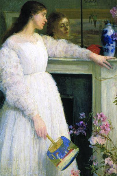 Symfonie v bílé č. 2: Malá dívka v bílém, 1864, olej na plátně, 76 x 51 cm, Tate Gallery, Londýn. (obr. 5)