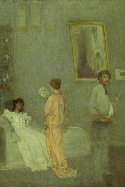 Umělcův ateliér, 1865/1866, olej na desce, 62 x 46,5 cm, Art Insitute, Chicago (obr. 2)