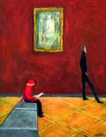 Józef Czapski: V Louvru, 1974, 83 × 68 cm, Érik Veaux, Paříž.
