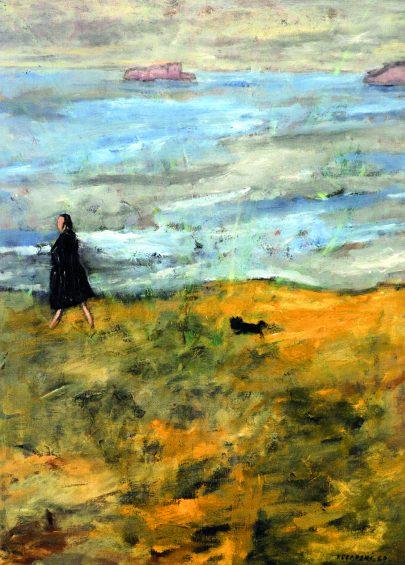 Józef Czapski: Lily Pastré, Dinard, 1960, 65 × 49 cm, Paulina Nourrissier-Muhlstein, Paříž.
