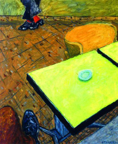 Józef Czapski: Červené ponožky, 1957, 65 × 54 cm, Popiel de Boisgelin, Kurozweki.