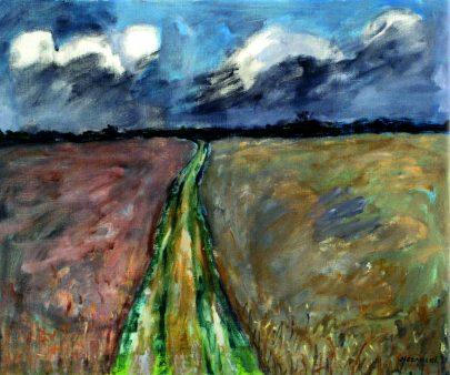 Józef Czapski: Pole a mraky, 1979, 50 × 61 cm, Richard a Barbara Aeschlimannovi, Chexbres.