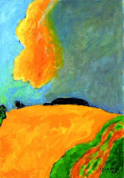 Józef Czapski: Žlutý mrak, 1982, 65 × 46 cm, Richard a Barbara Aeschlimannovi, Chexbres.