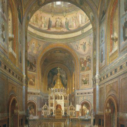 Fjodor Klages, interiér chrámu Krista Spasitele, malba, 1883. Zdroj: Zdroj: Wikimedia Commons. (Obr. 10)