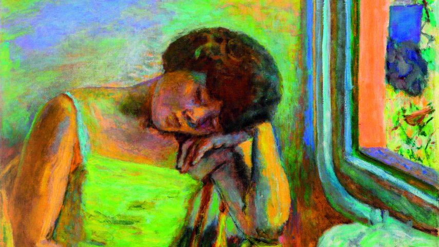 (Pierre Bonnard: Spící žena, 1928, soukromá sbírka.)