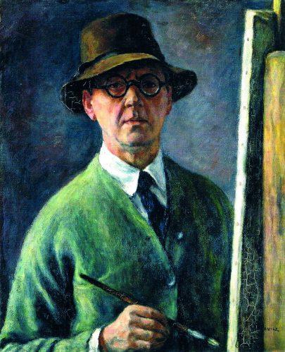 (Jozef Pankiewicz: Autoportrét v klobouku, 1927, Muzeum umění v Lodži.)