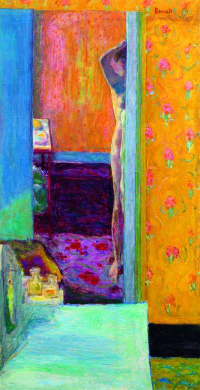 (Pierre Bonnard: Akt v interiéru, 1912–1914, National Gallery of Art, Washington, DC.)