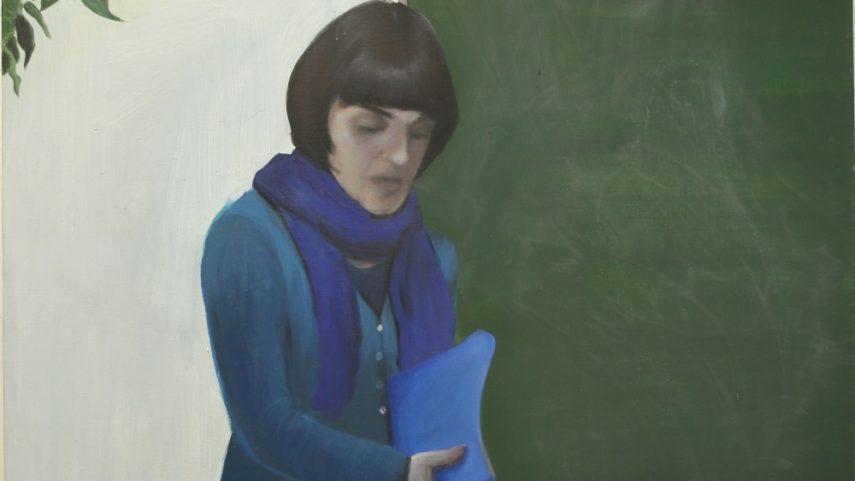 (Šárka Růžičková Zadáková: Gympl I, 170 × 150 cm, akryl na plátně, 2008.)