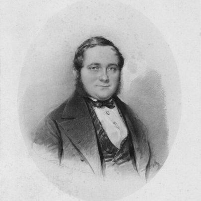 ( Portrét Adalberta Stiftera od Moritze Michaela Daffingera, 1846.)
