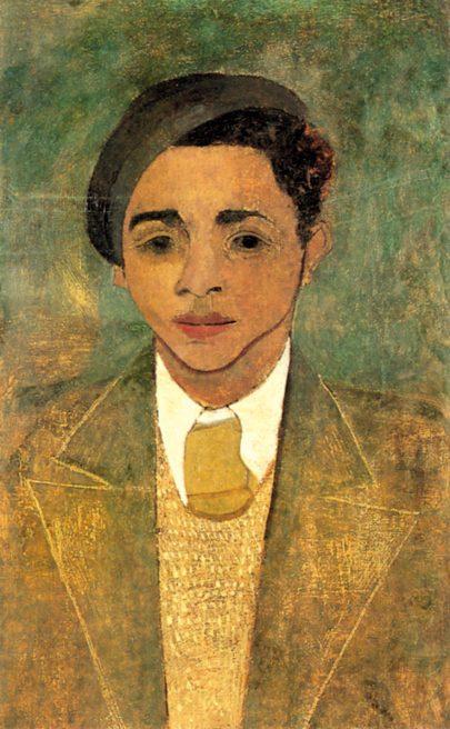 Portrét mladého muže (autoportrét), kolem roku 1925, olej na plátně, 64 × 39 cm, Kulturgeschichtliches Museum Osnabrück. (obr. 2)