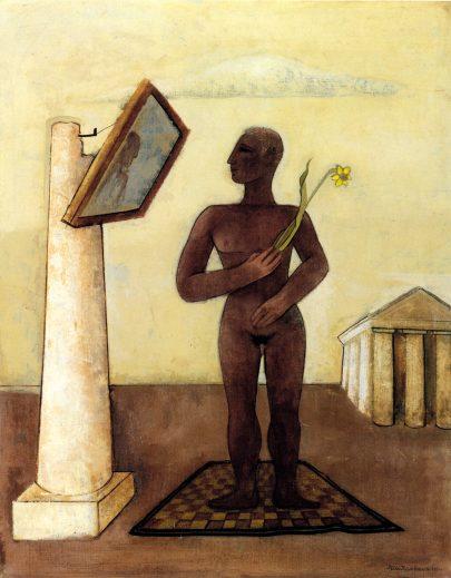 Narcis, 1932, olej na plátně, 64 × 51 cm, Kulturgeschichtliches Museum Osnabrück. (obr. 7)