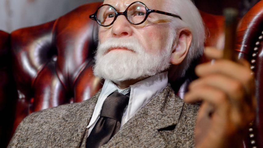 Sigmund Freud ve vídeňském muzeu voskových figurín Madame Tussauds. Foto: 123rf.com.