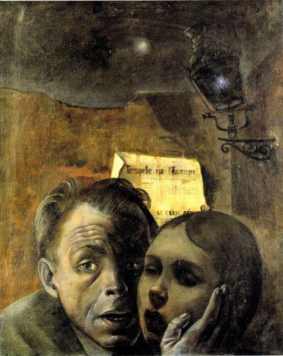 Strach, 1941, olej na plátně, 51 × 39,5 cm, Deutsches Historisches Museum, Berlín. (obr. 13)