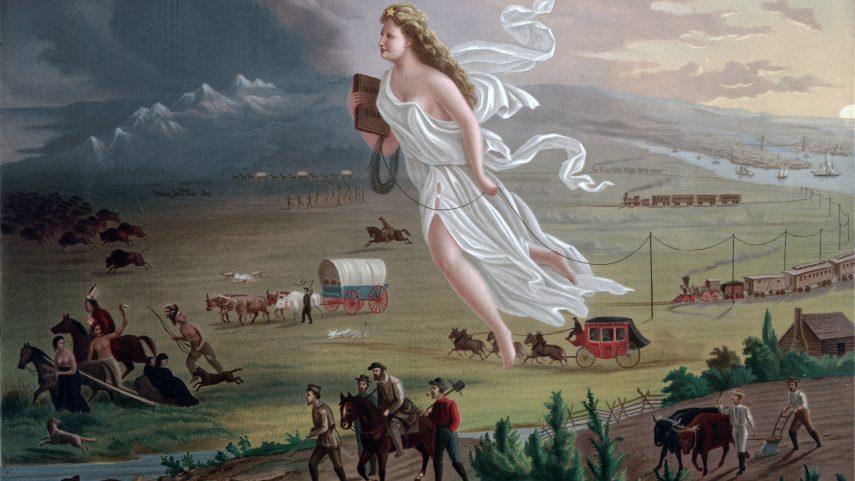 John Gast: Americký pokrok, 1872.