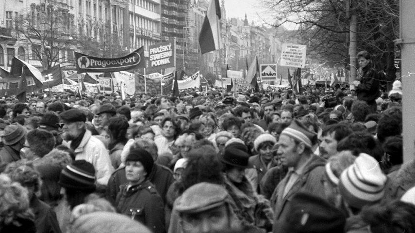 Listopad 1989, foto Jan Šrámek ml.