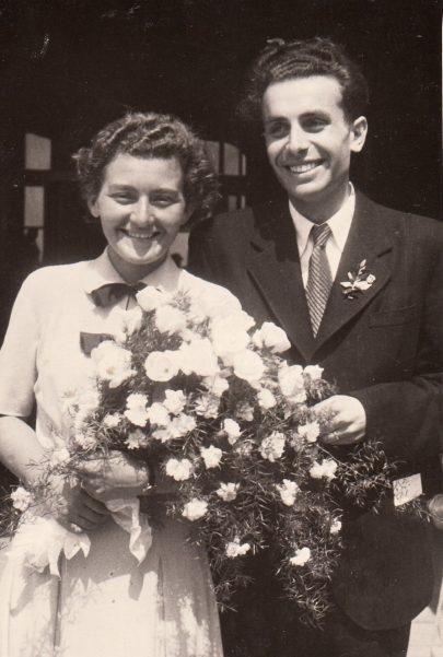 Sňatek s Milenou Bláhovou. Foto: Paměť národa, archiv pamětníka.