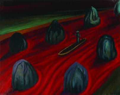 Kameny zákona, 1999, olej na plátně, 55 × 70 cm.