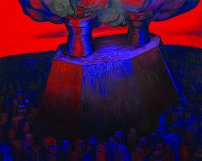 Velká spalovna (Berlín), 2008, olej na plátně, 160 × 200 cm.