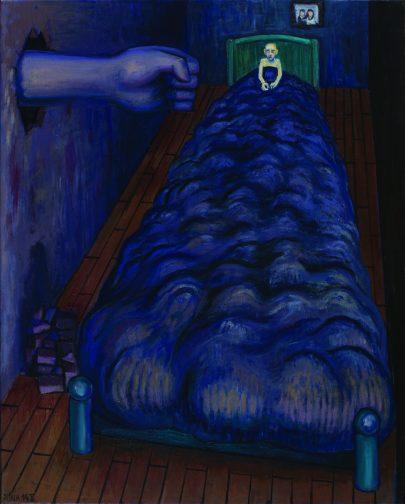 Noční úzkost, 2014, olej na plátně, 100 × 80 cm.