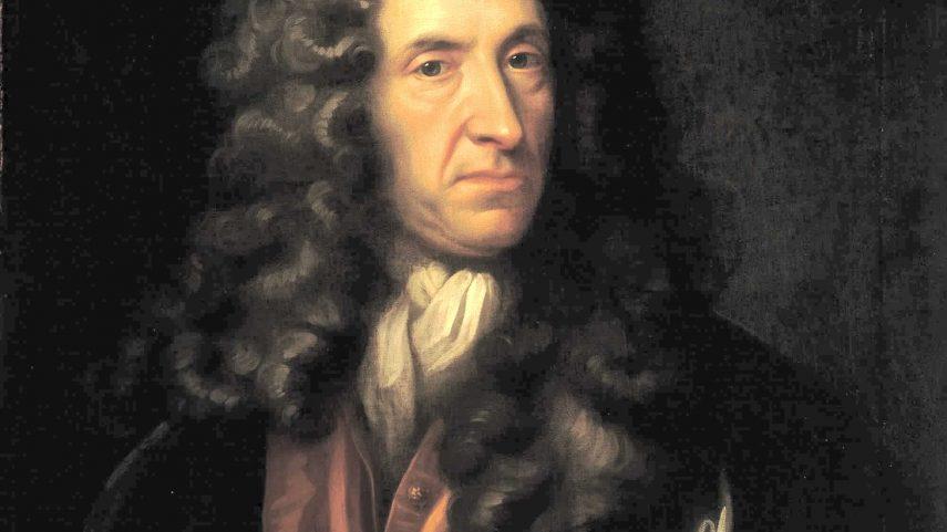 Portrét Daniela Defoea od neznámého malíře, National Maritime Museum, London. Zdroj: Wikimedia Commoms.