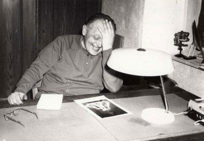 Na faře v Hrádku kolem r. 1985 (archiv J. Horáka).