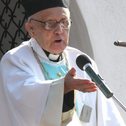 Jako kazatel na pouti na Svatém Kopečku u Mikulova, 3. září 2006 (foto V. Hortvík).