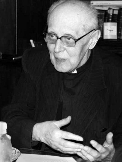 Otec Stanislav Krátký v r. 2009 (foto N. Schmidt).