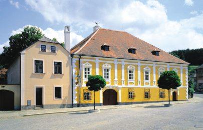 Zrekonstruovaný rodný dům Josefa Hoffmanna v Brtnici. Foto: Filip Šlapal, zdroj: Pelčák a partner architekti.