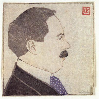 Josef Hoffmann, portrét od Emila Orlika v roce založení Wiener Werkstätte (1903).