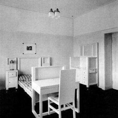 Sanatorium Purkersdorf: dobová fotografie zařízení pokoje.