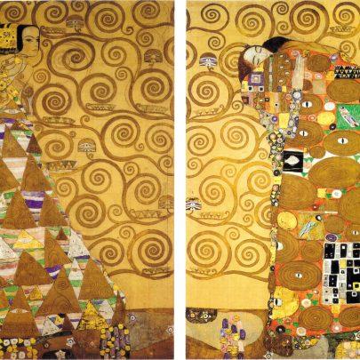 Palác Stoclet: detail vlysu Naplnění Gustava Klimta