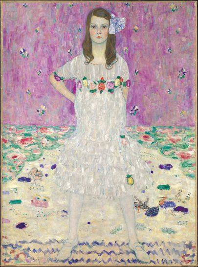Gustav Klimt: portrét Mädy Primavesi, dcery Otty a Eugenie (Mädy) Primavesi (1912).