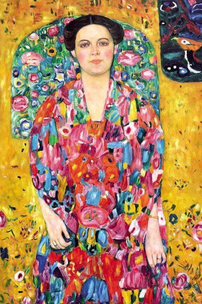 Gustav Klimt: portrét Eugenie (Mädy) Primavesi (1913).
