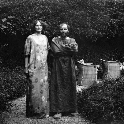Emilie Flögeová s Gustavem Klimtem.