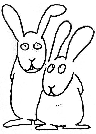 První verze králíků Vladimíra Jiránka. Foto: Archiv J. V.
