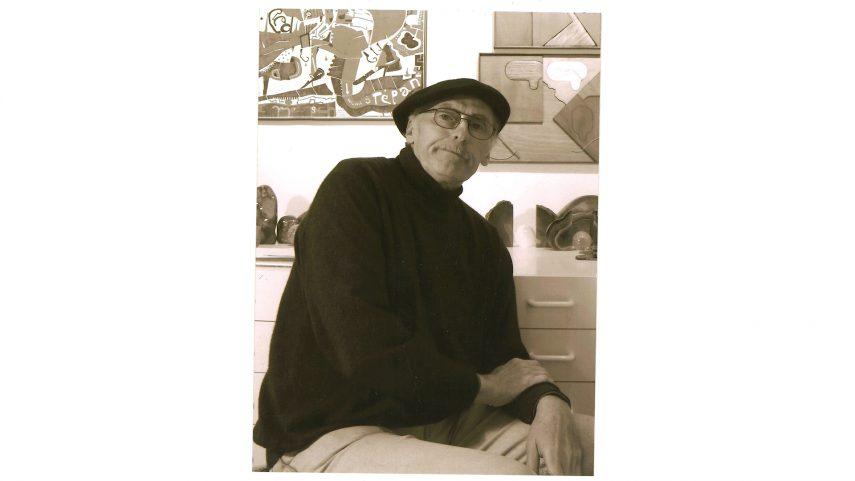 Roman Erben ve svém ateliéru, 2010. Foto z archivu RE.