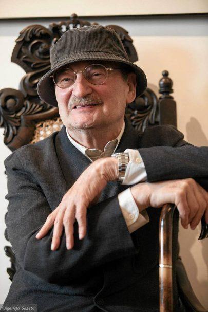 Sławomir Mrożek. Foto: Michał Łepecki, Agencja Gazeta.