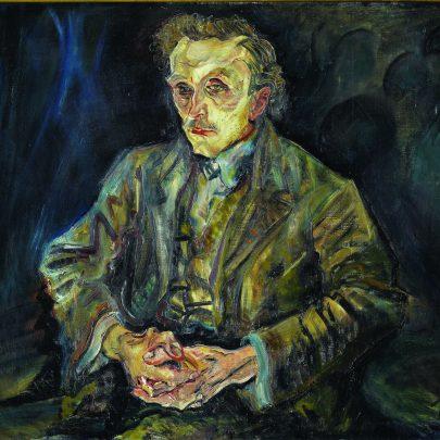 Oskar Kokoschka: Portrét architekta Adolfa Loose, 1909, Schloss Charlottenburg, Berlín. (obr. 5)