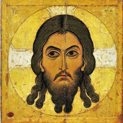 Obraz Kristovy tváře, Acheiropoietos, 12. století, Novgorod, Treťjakovská galerie, Moskva. Foto Wikimedia Commons. (obr. 3)