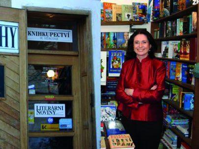 Bývalé knihkupectví M. Němcové ve Žďáře nad Sázavou.