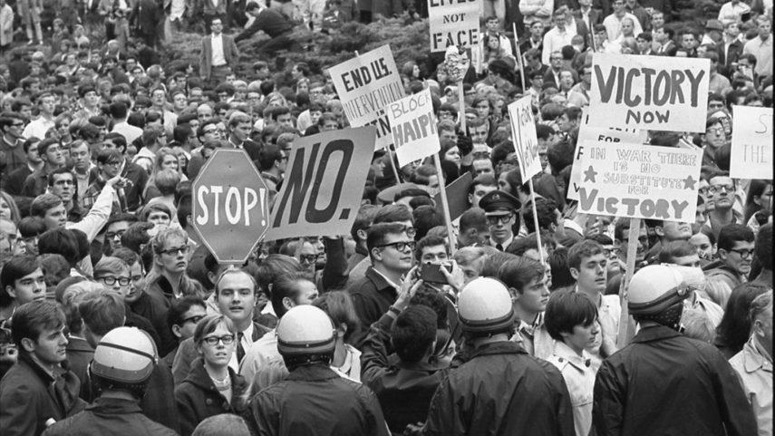 Studentské protesty proti válce ve Vietnamu, Indiana University, 1967.